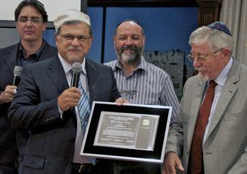 Homenagem da CCJM ao Conselheiro Internacional, rabino Joseph Shulam