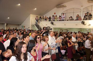 Mais de 500 participantes lotaram a Congregação Har Tzion
