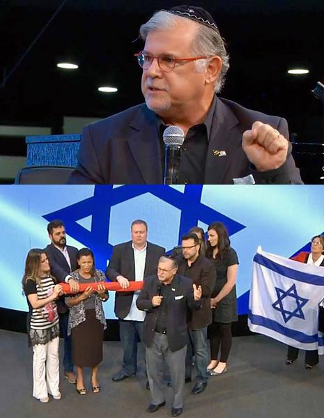 Rabino Mess. Marcelo Guimarães ora em prol da reconciliação da Igreja com Israel.